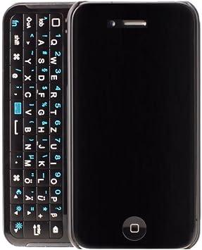 Apple Coque Arriere clavier coulissant AZERTY pour Apple IPhone 4