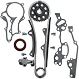 NEW TK10120 (96 Links - Single Row) HD Heavy Duty Timing Chain Kit (2 HD Metal Steel Guide Rails & Bolts) / 85-95 Toyota 2.4L 4Runner Pickup Celica 4-Cylinder 22RE 22REC 22RTEC