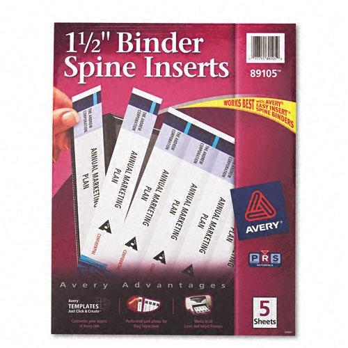 Avery Custom Binder Inserts Sheets