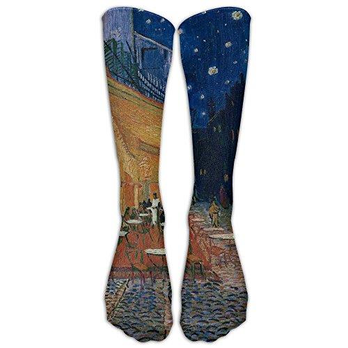 Cafe Night Gauguin - Cafe Terrace In Arles At Night Athletic Tube Stockings Women's Men's Classics Knee High Socks Sport Long Sock One Size