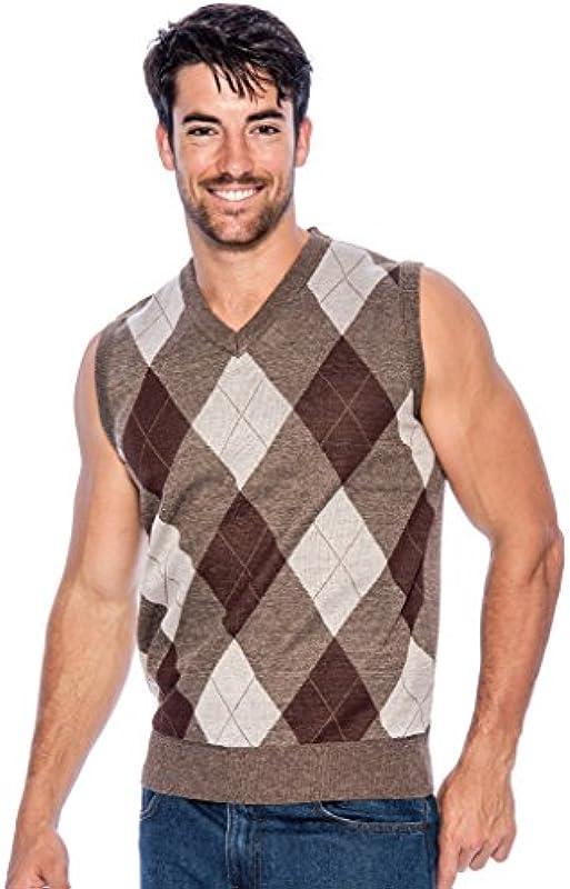 TR Fashion Męskie Pullover mit V-Ausschnitt in Argyle- und Uni-Farben: Odzież