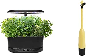 AeroGarden Bounty Basic Indoor Hydroponic Herb Garden, Black & Be The Bee Pollinator