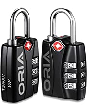 ORIA TSA Approved Luggage Lock, Travel Lock, Combination Lock, Padlock