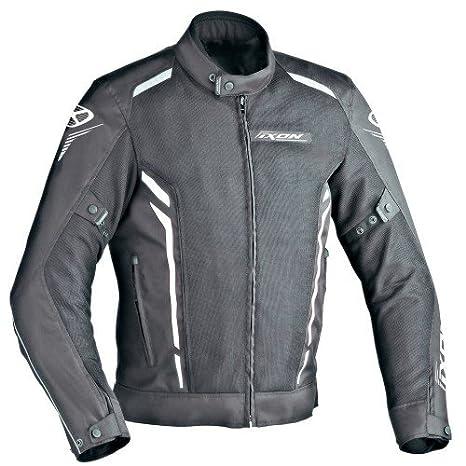 Ixon Cooler - Chaqueta para motocicleta, color negro y blanco, talla XS: Amazon.es: Coche y moto