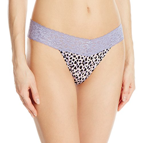 Animal Print Thong - Maidenform Women's Dream Lace Thong Panty, Gentle Animal Print Plum Grey, Small/Medium