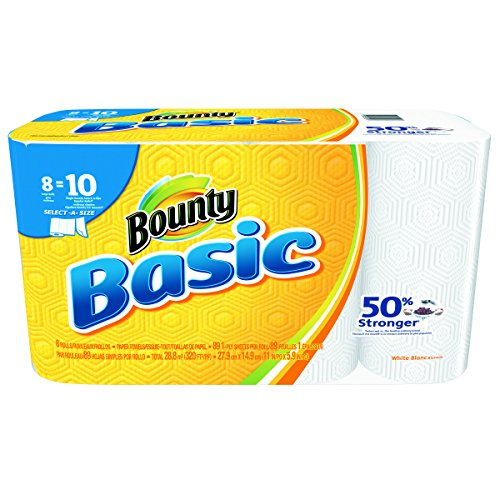 Bounty 92979 Basic Select-A-Size Paper Towels, 5 9/10