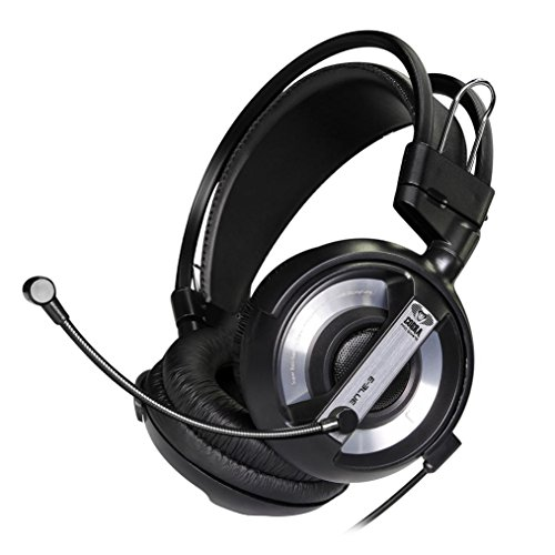 Professional Gaming Headset - 3.5mm USB Surround Stereo LED Light Gaming Headphone With Mic for Game Lover (Black)
