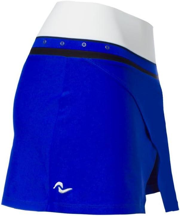 Naffta FS735 - Falda corta para mujer, color azul fluor / blanco ...