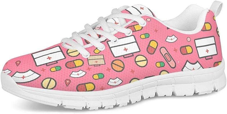 Polero - Zapatillas deportivas diseño con dibujos de enfermera, para mujer, hombre, con cordones, para el tiempo libre, 36-41 EU: Amazon.es: Zapatos y complementos