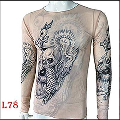 Chaleco De Manga Corta Moda De Hombre Falso Tatuaje Camisetas De ...