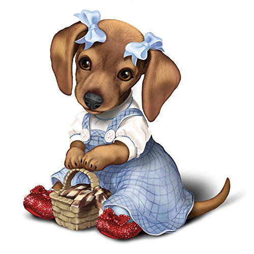 The Wizard Of Oz Dorothy Dachshund Dog Collectible Figurine by The Hamilton Collection -
