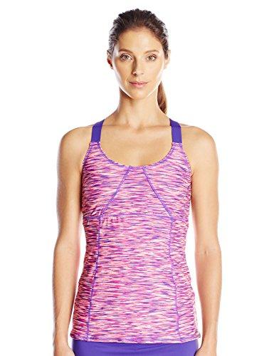 TYR Sport Women's Sonoma X-Back Tankini, Purple, Small