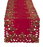 Fennco Styles Pandoro Collection Holiday Christmas Tree Table Runner - 16