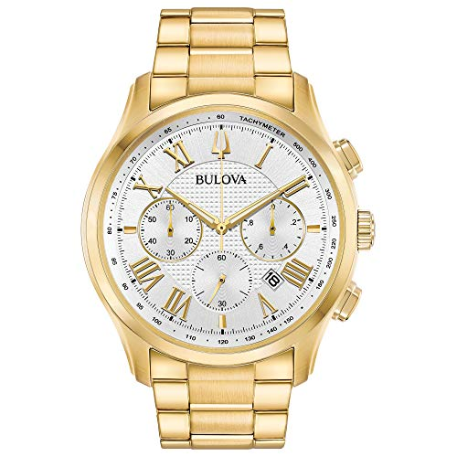 Bulova Mens Chronograph Quartz Watch with Stainless Steel Strap 97B171