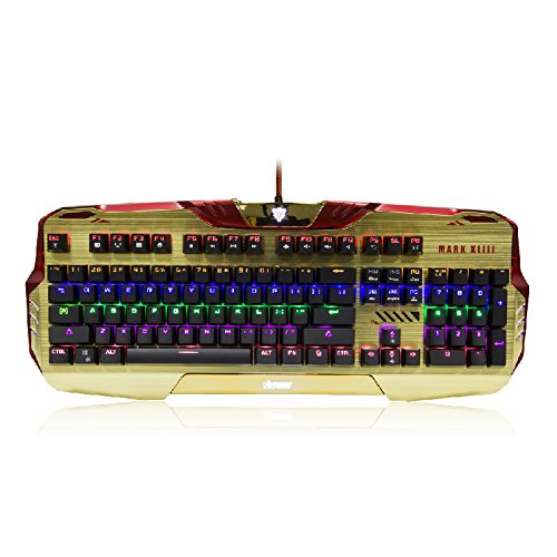 Iron Man Wired Mechanical Gaming Keyboard Programable RGB - Ironman Keyboard