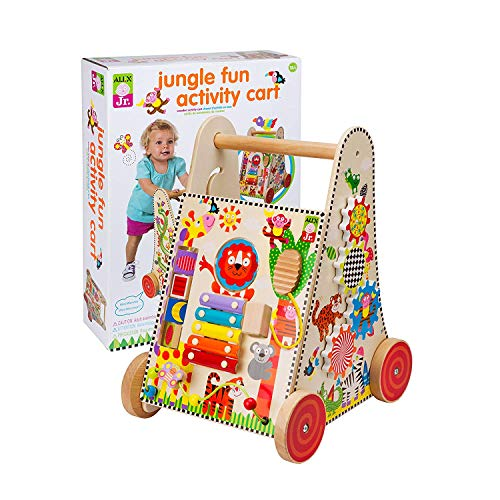 Alex Jr. Jungle Fun Activity Cart, My Busy Town Wooden Activity Cube and Count N Spin Abacus Robot, Playset, Alphabet, Matching, Sensory, Math, Counting, Numbers, Colors, Early Learning, Educational by ALEX Jr. Toys (Image #1)