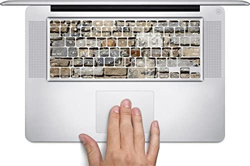 Stones Rock Wall Background Pattern Keyboard Decals by Moonlight Printing for 13 and 15 inch MacBook Air//Pro//Retina
