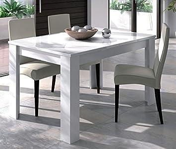 Habitmobel Mesa Comedor Extensible Blanco Brillo Dimensiones