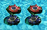 Solar Powered Color Changing Light for Garden, Walkway or Pool - Water Lily 4 Pk
