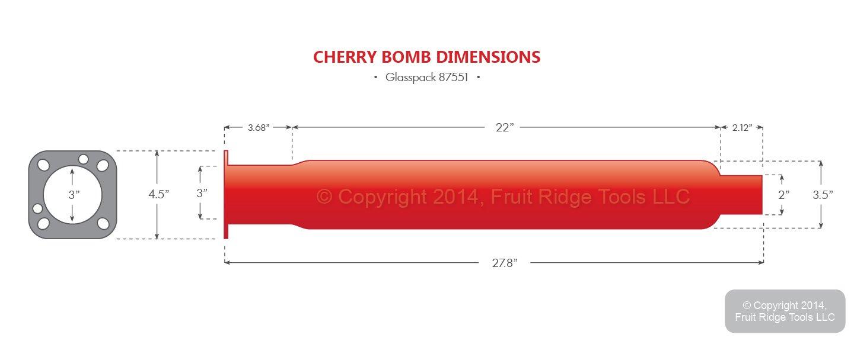 Cherry Bomb 87551 Glasspack Muffler
