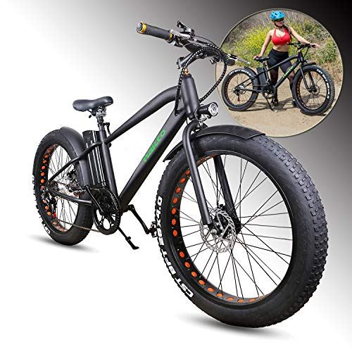 NAKTO Cruiser Fat Tire Bike 20″/26″ Electric Bicycle, Equipped with Removable Battery, LCD (with Lock)-(Cruiser)
