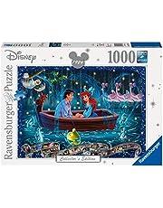 Ravensburger Puzzle 19745 – Disney Arielle – 1 000 bitar pussel för vuxna och barn från 14 år, Disney-pussel med Arielle, Fabius, Sebastian och Co.