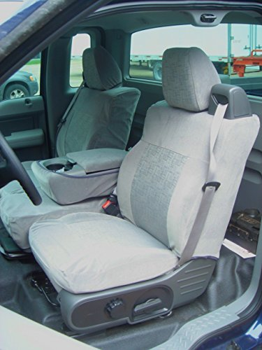 Durafit Seat Covers Gray Cloth 2004-2008 Ford F150 XLT Xcab 2 Rows. Fronts 40/20/40 and rear bench with split bottoms.