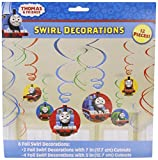 Amscan Thomas The Tank Birthday Party Swirl Decoration Value Pack, 10.3 x 9.5, Multi