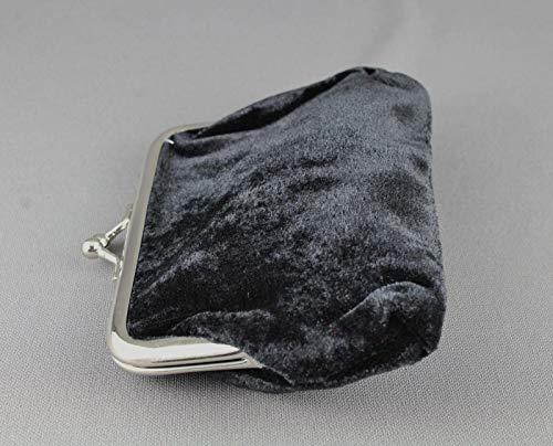 Amazon.com: Monedero de terciopelo negro cambiador bolso ...