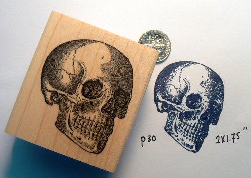 Skull rubber stamp WM P30 (Stamp Skull)