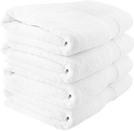Oversized Bath Towel White Sacow 36 x 80 cm Extra Large Soft Spa Bath Sheet Ideal for Daily Use