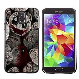 Qstar Arte & diseño plástico duro Fundas Cover Cubre Hard Case Cover para SAMSUNG Galaxy S5 V / i9600 / SM-G900F / SM-G900M / SM-G900A / SM-G900T / SM-G900W8 ( Halloween Spooky Blood Monster Pumpkin)