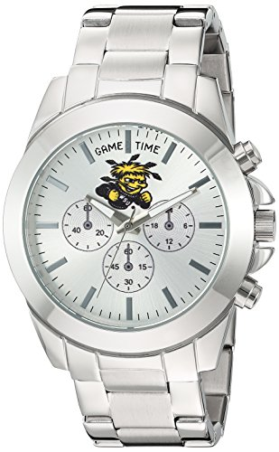 Game Time Women's 'Knock-Out' Quartz Stainless Steel Quartz Analog Watch, Color:Silver-Toned (Model: COL-TBY-WST) (University Ladies Analog)