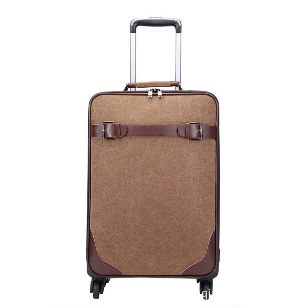 荷物ケース, トラベルバッグスーツケース キャンバスプルロッドボックス、ユニバーサルホイール、トラベルバッグ、ABS荷物の搭乗ボックス。 B07V27TRFG