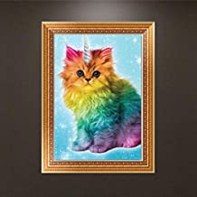 Clearance DIY 5D Diamond Paintings by Number Kits, Iuhan 5D Animals Diamond Paintings Cross Stitch Round Rhinestone Pasted Crystals Embroidery Paintings Home Decor Craft (A)