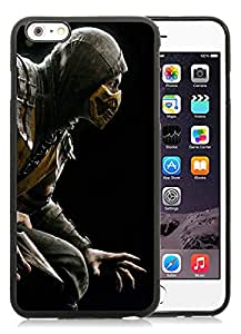 DIY Case Design with Case Mortal Kombat Scorpion Hero Costume iphone 6 PLUS 5.5 INCH TPU Case in Black