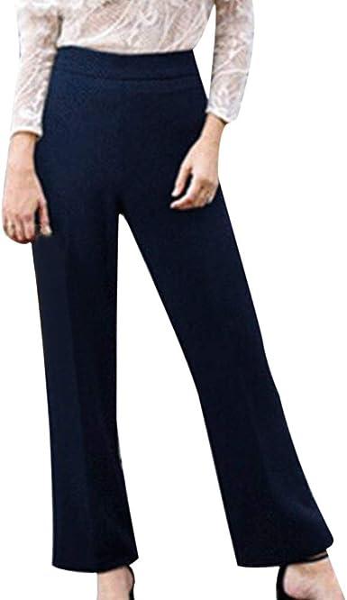 Pantalones Anchos Marlene para Mujer Otoño Invierno 2018 Moda PAOLIAN Casual Pantalones Acampanados Vestir Cintura Alta Fiesta Pantalon de Trabajo Baggy Elegante Señora Tallas Grandes: Amazon.es: Ropa y accesorios