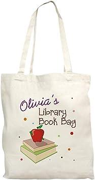Girls fox personalised library tote bag