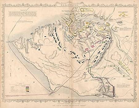 CRIMEAN WAR. Siege of Sevastopol. Plan. TALLIS / RAPKIN ...