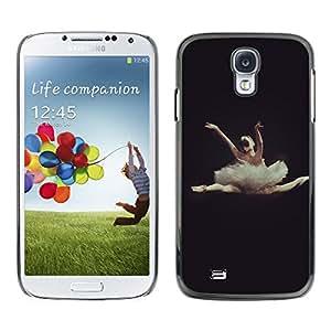 X-ray Impreso colorido protector duro espalda Funda piel de Shell para SAMSUNG Galaxy S4 IV / i9500 / i9515 / i9505G / SGH-i337 - Dance Ballet Dancer Black Woman