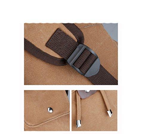Multi Black Backpack Travel Laidaye Canvas Shoulders purpose Business Leisure Ypx6qwO