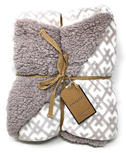 ReLive Prose Amsterdam Nacht Reversible 50-by-60 Inch Luxury Berber Throw Blanket, Mauve (Luxury Throw Blanket)
