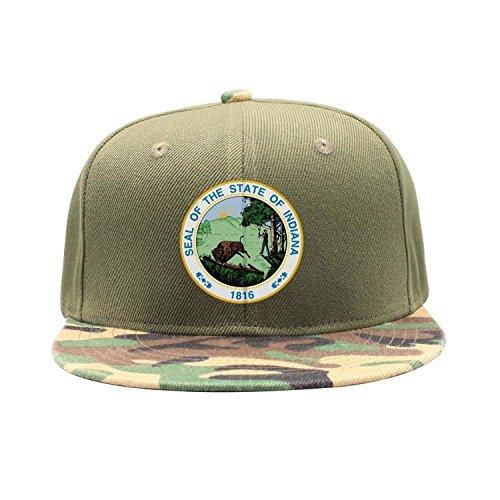 TylerLiu Seal of The State of Indiana Logo Snapbacks Truker Hats caps Unisex Adjustable Fashion