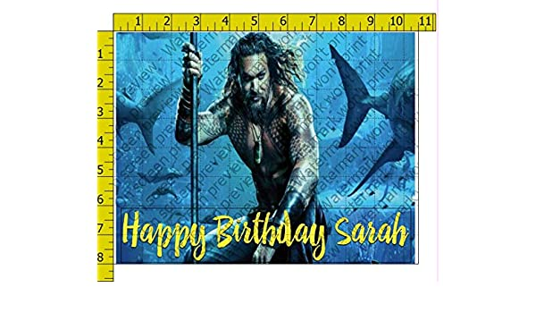Aquaman 2019 Movie Personalized Edible Frosting Image 1/4