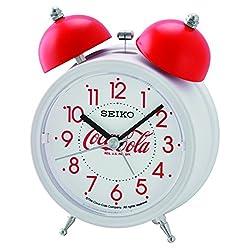 Seiko Coca-Cola Bell Alarm Clock - White