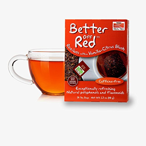 Red Rooibos Tea with a Vanilla-Citrus Blush, Caffeine-Free, with Polyphenols and Falvonoids, Premium Unbleached Tea Bags
