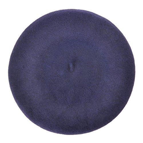 Wool Beret Hat Classic Solid Color French Beret for Women (Navy Blue) - Blue Beret Navy