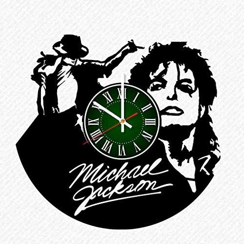Michael Jackson Vinyl Record 12 Inch Wall Clock Room Wall Decor Music Art Gift Modern Home Vintage Decoration Gift Birthday Halloween Christmas Gifts]()