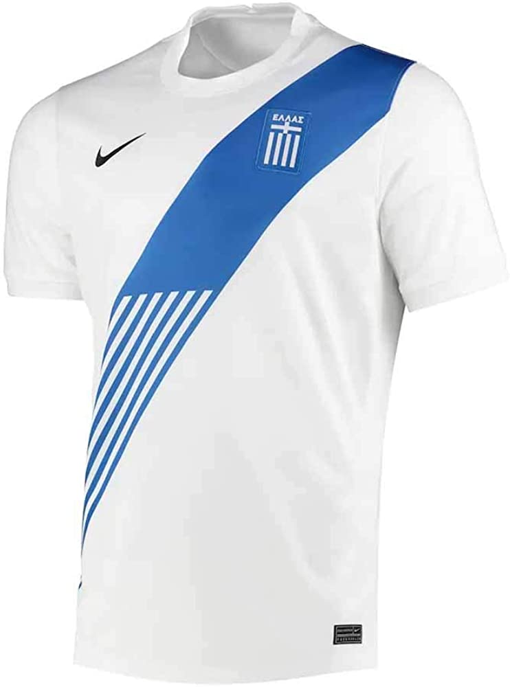 Nike 2020-2021 Greece Home Football Soccer T-Shirt Jersey