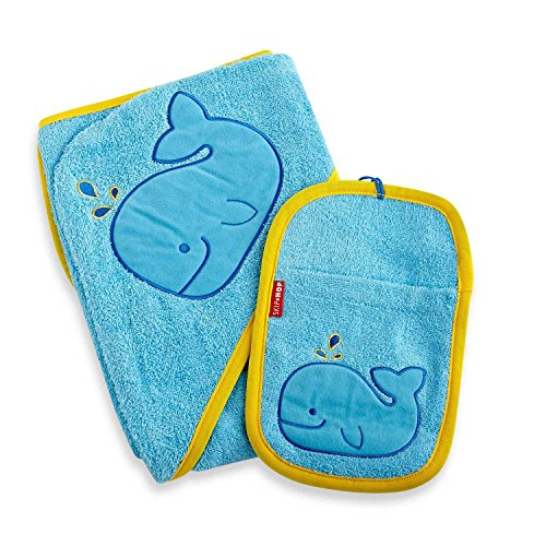 Zoo Towel and Mitt Set - Moby Whale